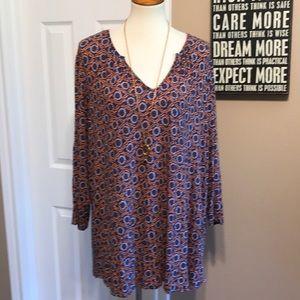 Dalia size 3X super soft swing tunic top 💙